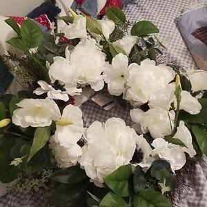 Faux Floral Wreath